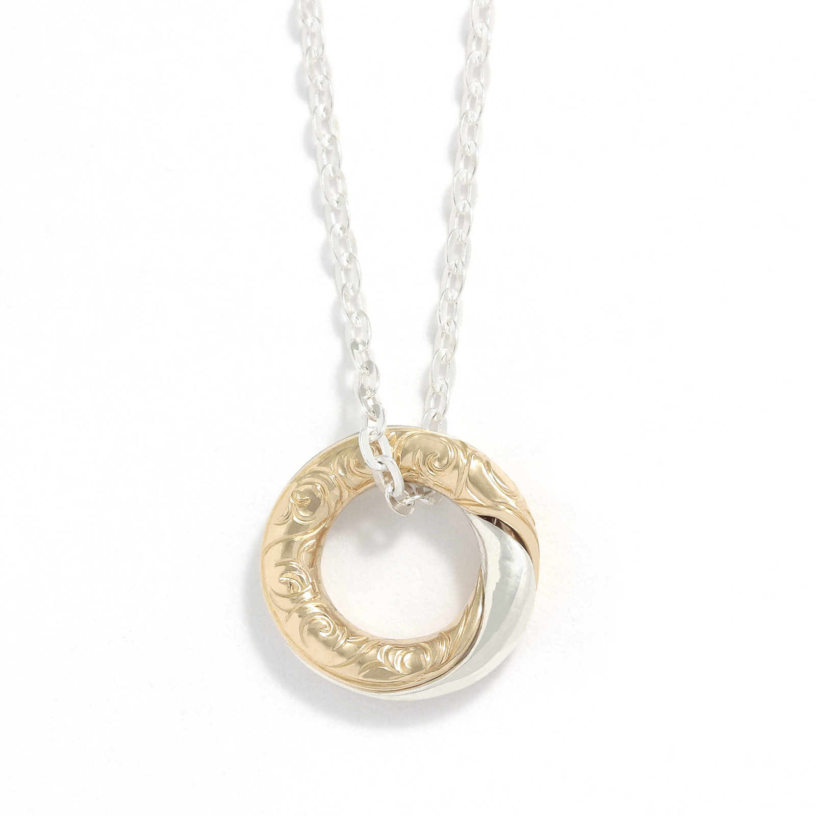 Gimmel Ring Necklace - Silver×10K