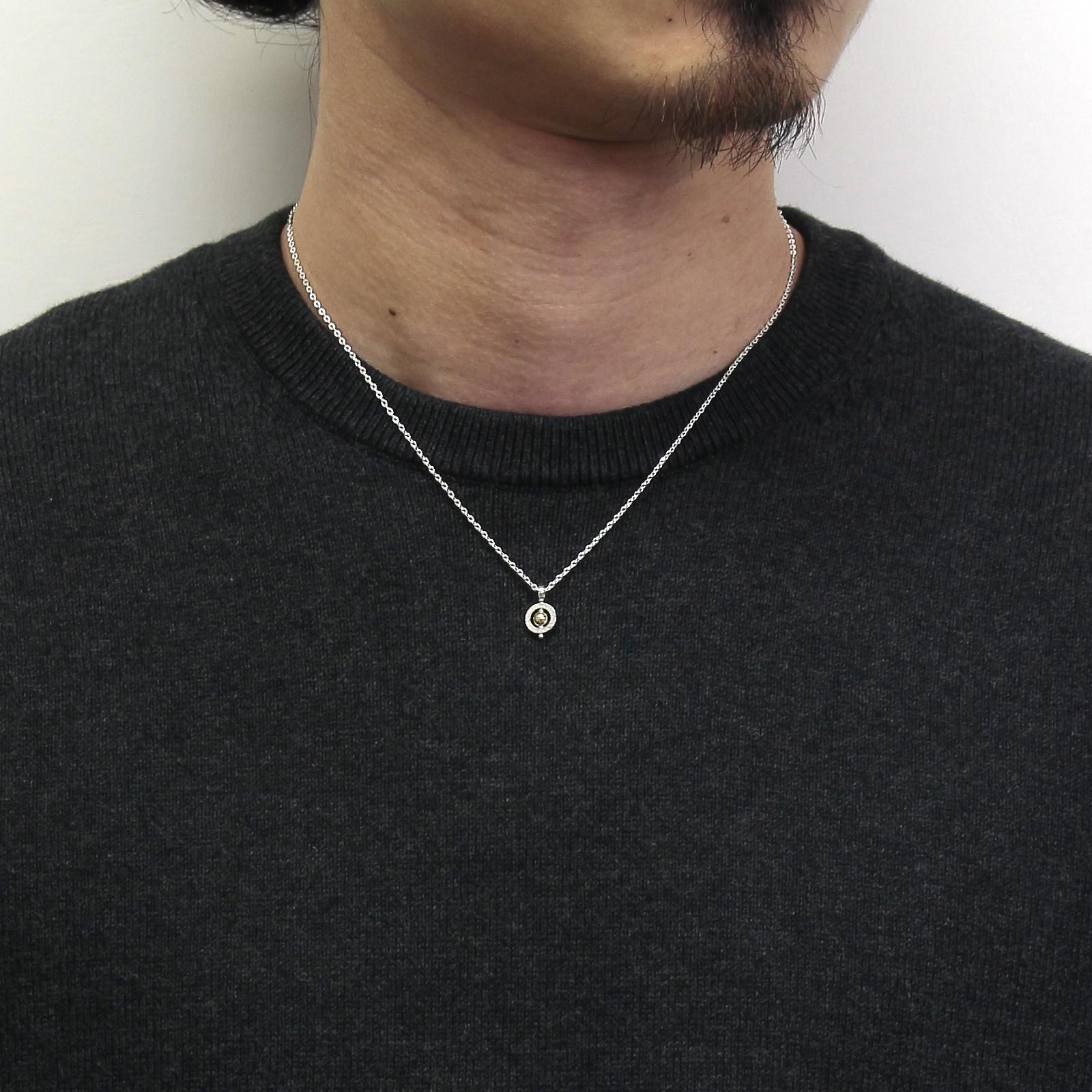 Tiny Bramanda Necklace - Silver×18KYG