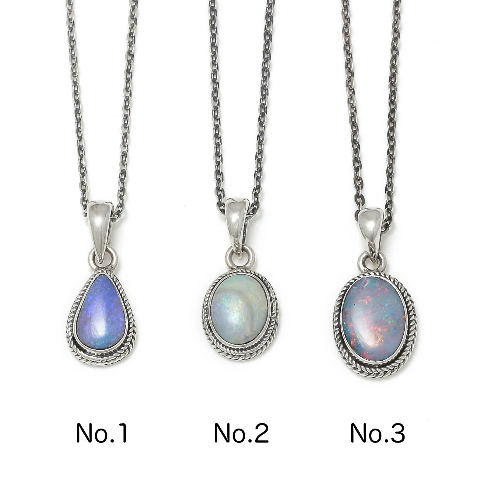Small Opal Stone Necklace