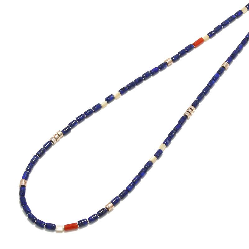 Tube Beads Necklace / Lapislazuli