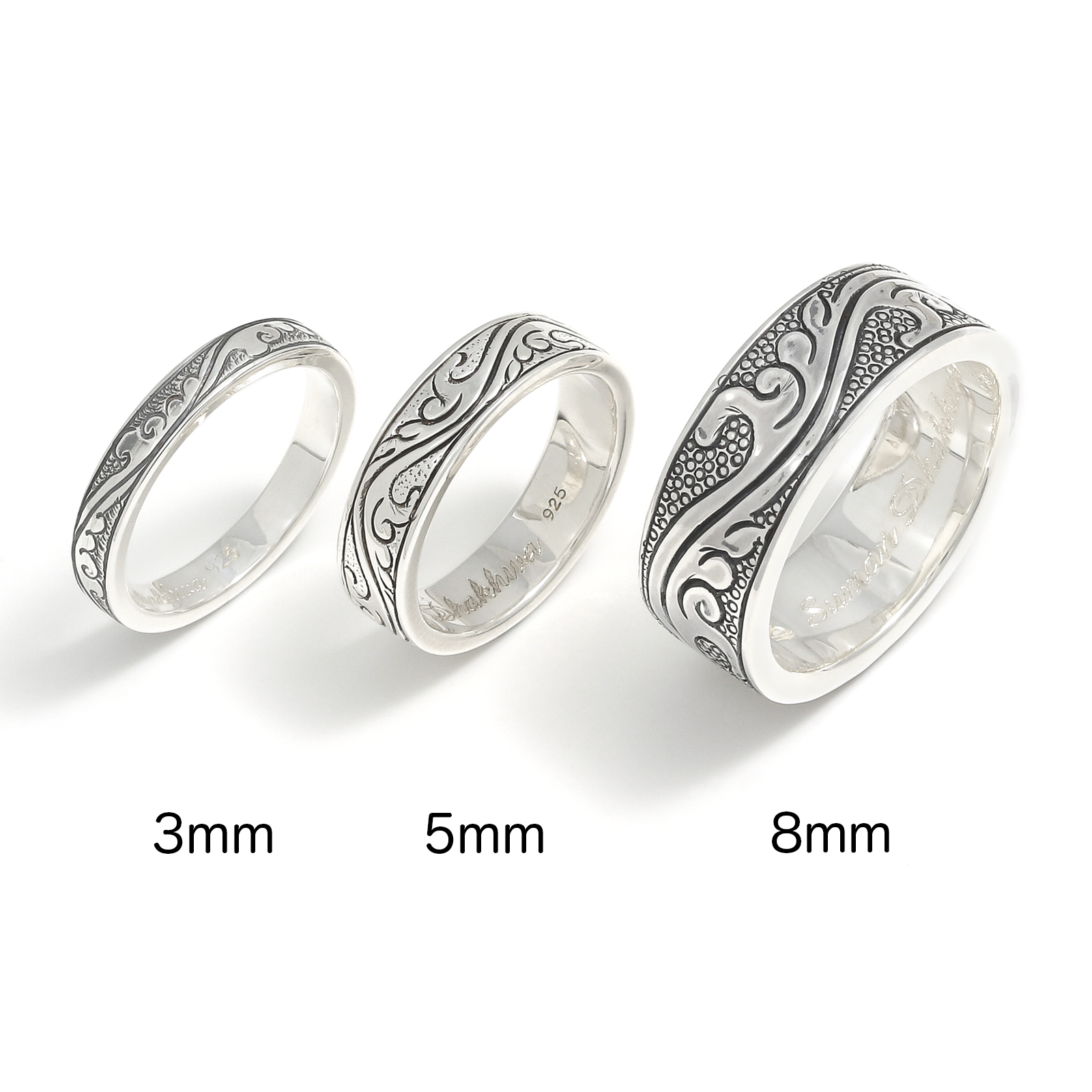 Leaf Carving Flat Ring