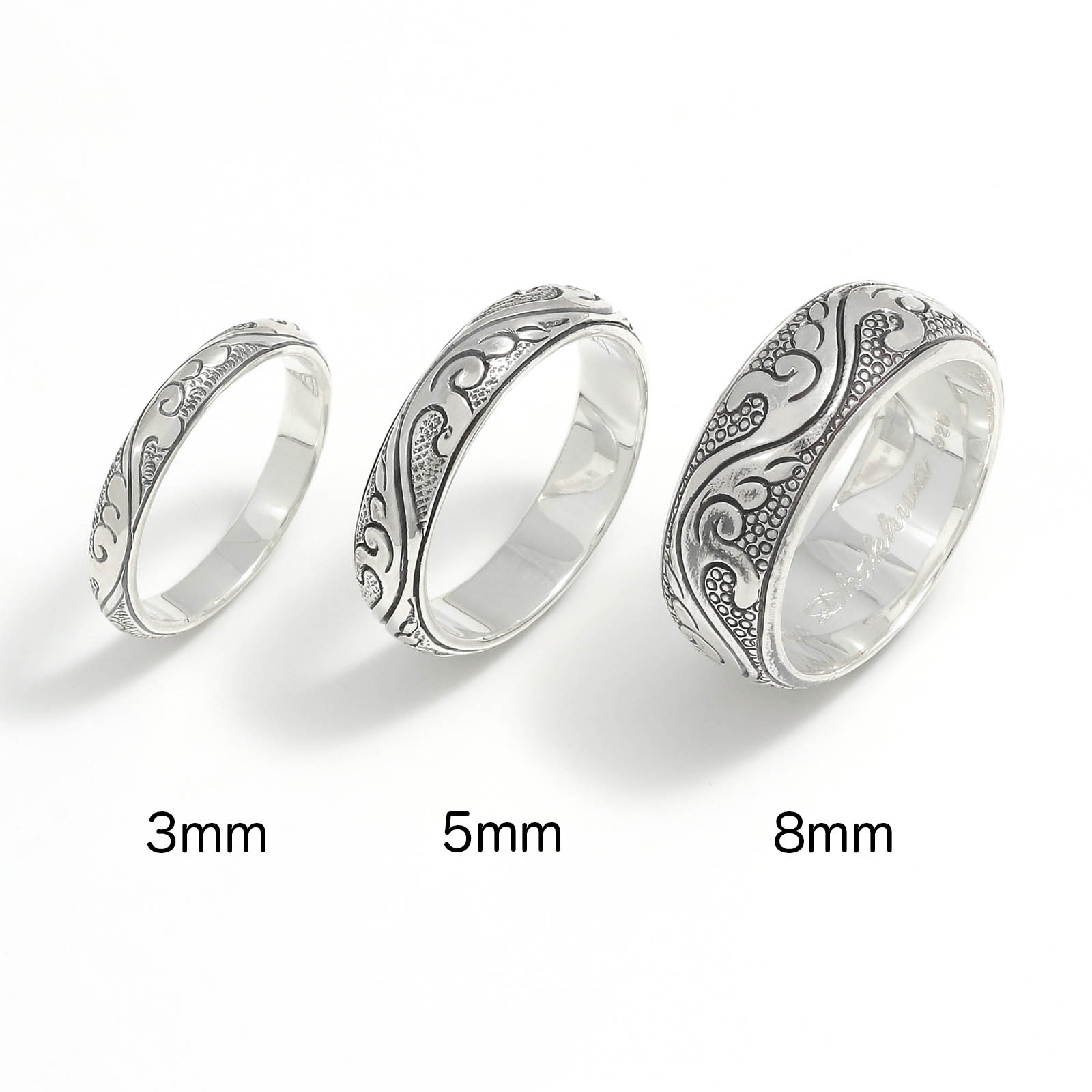Leaf Carving Round Ring