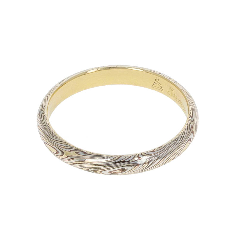 Gold MOKUME Combination Ring