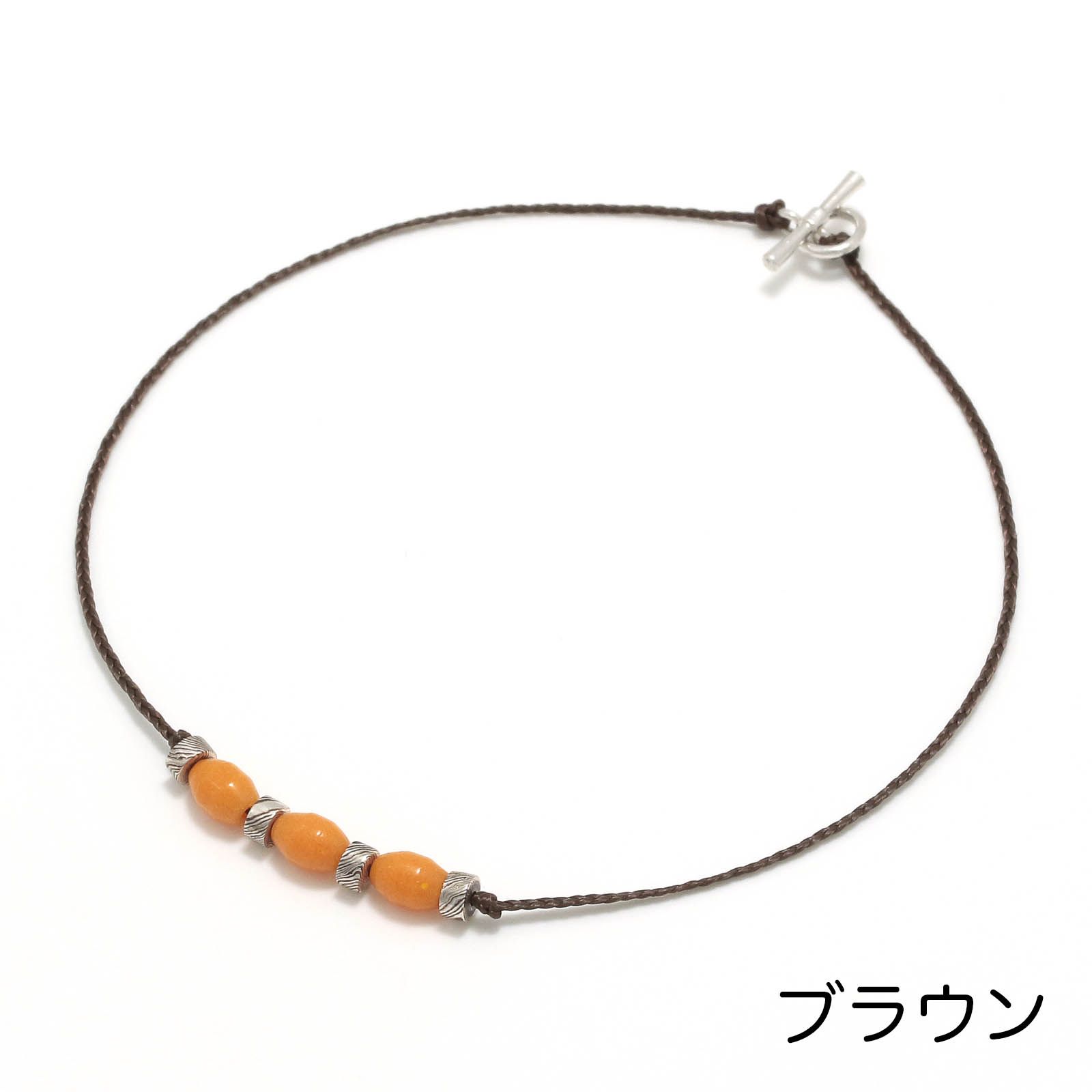 Collaboration One Mile Jewelry MOKUME Beads Anklet