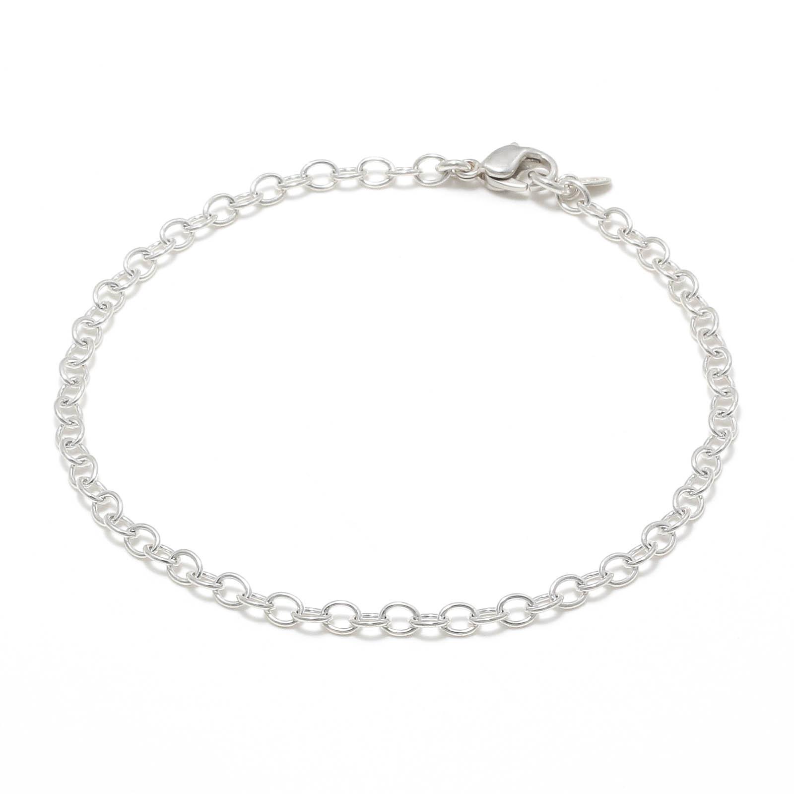 JUST GOOD Chain Bracelet - Round - Silver