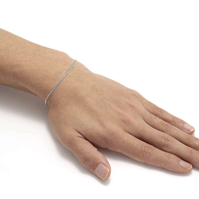 JUST GOOD Chain Bracelet - Classic - Silver