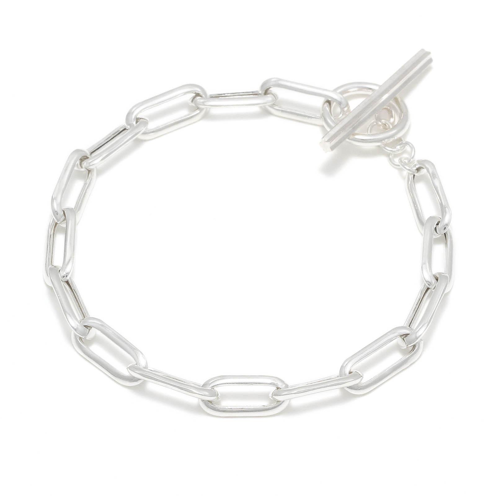 Hollow Chain Bracelet TYPE:1 - Silver