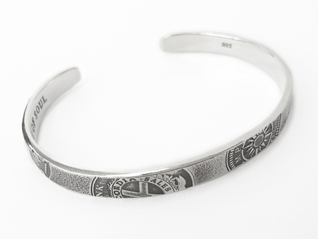 Old Coin Bangle - Silver