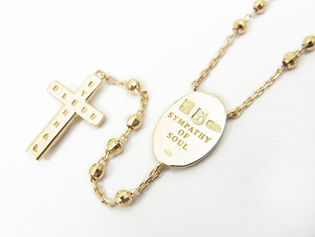 Divine Rosary Short - K18 Yellow Gold