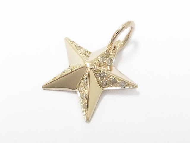 Sympathy of soul rustic star pendant small rustic star pendant small k10 yellow gold wdiamond mozeypictures Gallery