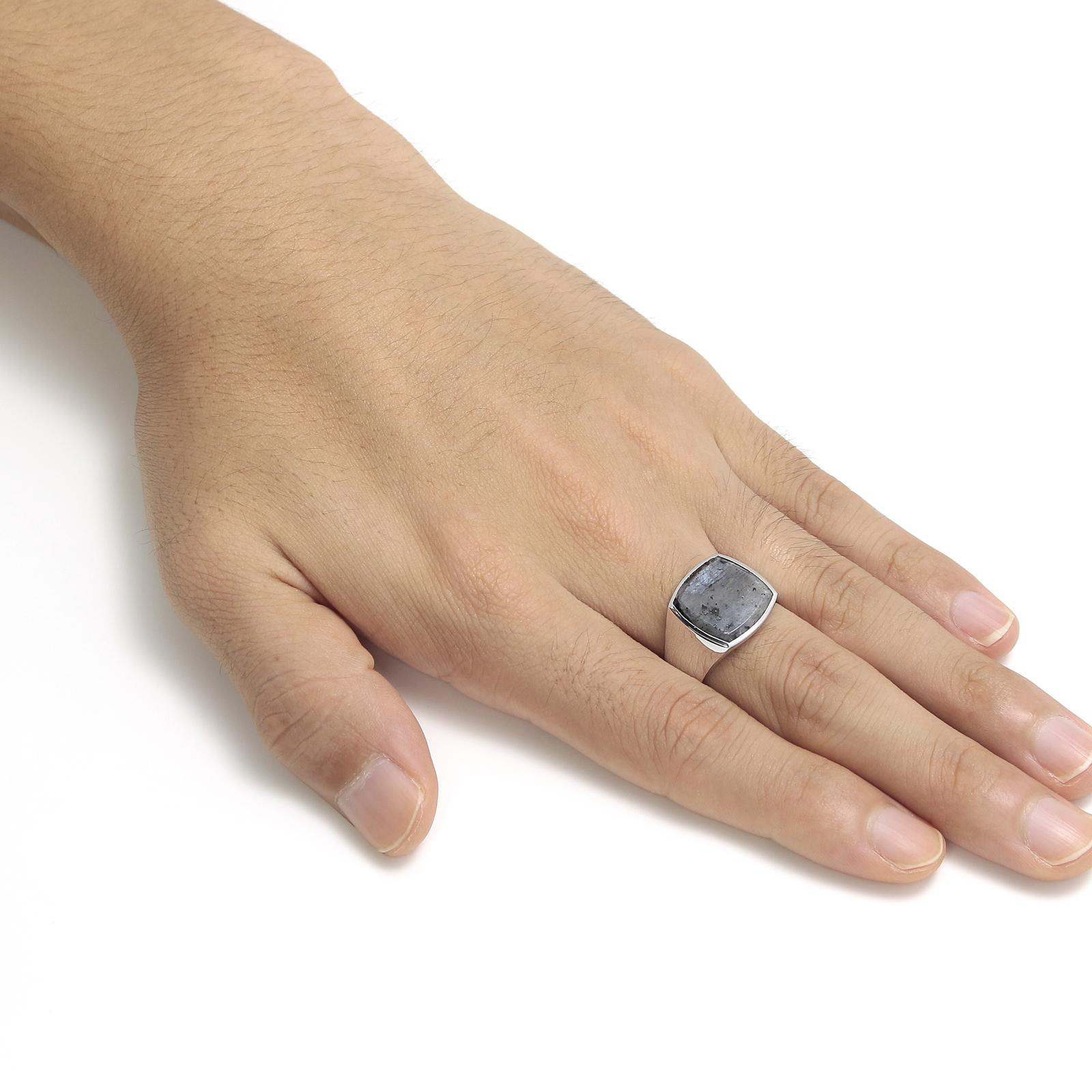 Cushion Larvikite (M) Ring