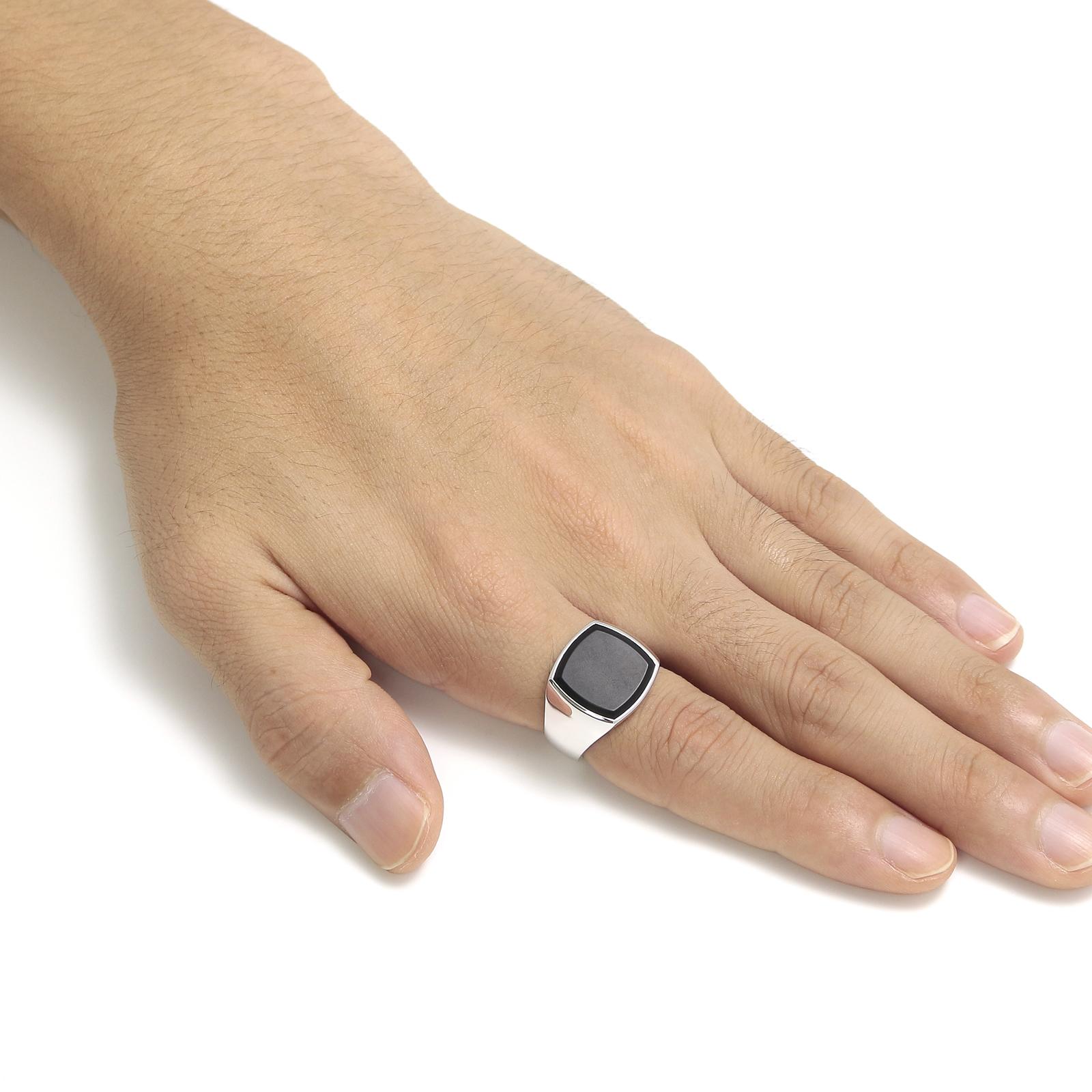 Cushion Black Onyx (M) Ring