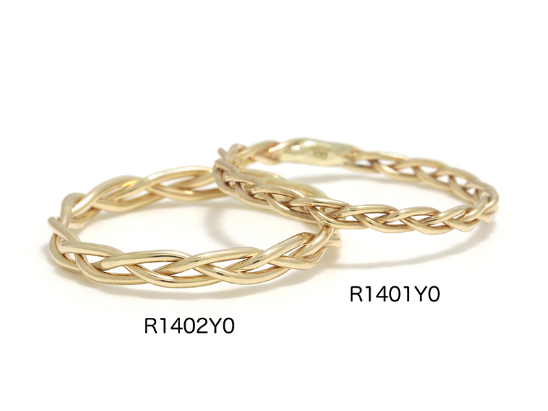 Woven Ring - K10Yellow Gold