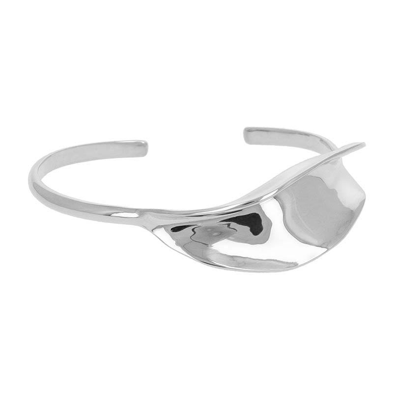 Flutter Bangle - Silver
