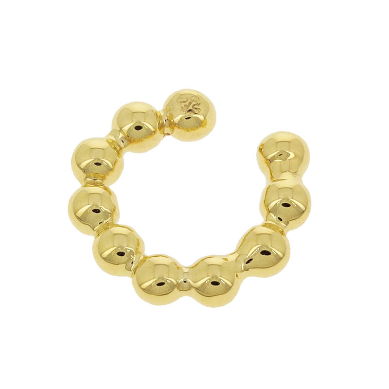 Bubble Link Ear Cuff Small - Gold Plated