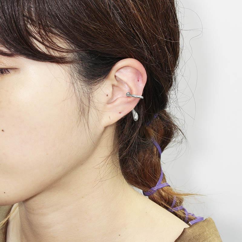 Liquid Ear Cuff Small - Silver