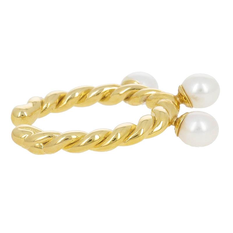 Twist Ring w/Pearl
